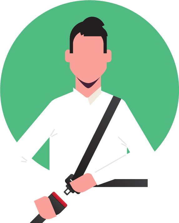 icona-persona-mentre-allaccia-al-cintura-di-sicurezza
